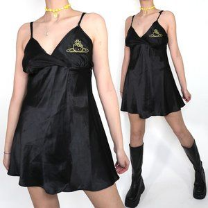 HELLO KITTY SATURN ORB BLACK SLIP DRESS